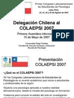 COLAEPSI 2007 - Presentación Primera Asamblea (15 de Mayo)