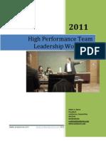 Ed Ebreo - High Performance Team Leadership Workshop