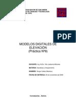 Modelos digitales de elevación - Geodecia