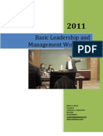 Ed Ebreo- Basic Leadership and Management Workshop