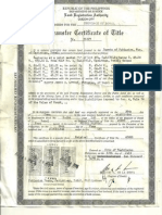 Certificate of Land Title