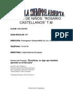 Escuela Siempre Abierta J. de N. Rosario Caste Llanos