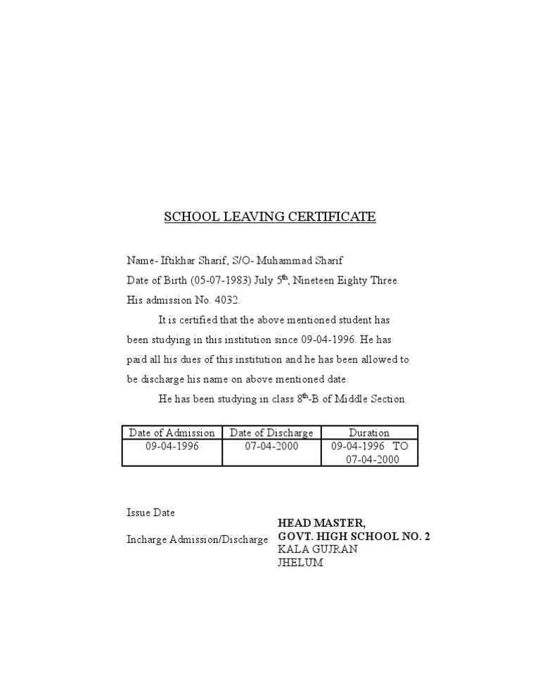 School leaving certificate yadclub Gallery