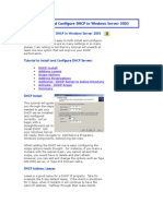 Install and Configure DHCP in Windows Server 2003