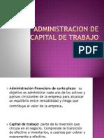 Admin is Trac Ion de Capital de Trabajo