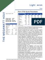 280706 - Flash News Elétricas - Light - Bom 2T06 Ajusta Result a Dos