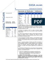 310706 - Flash News Medicina Diagnóstica - Dasa - Aquisição Do MedLabor - Indiferente