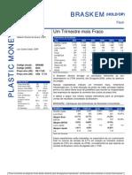 020806 - Flash News Petroquímica - Braskem - Um Trimestre Mais Fraco