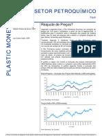020806 - Relatório Setorial Petroquímico - Reajuste de Preços
