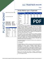 030806 - Flash News Petroquímica Ultrapar - Ainda Melhor Que o Esperado