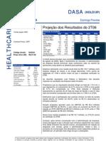 100806 - Flash News Medicina Diagnóstica - Dasa - Projeção Dos Result a Dos Do 2T06
