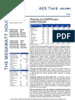 100806 - Flash News Elétricas - AES Tietê - Depreciação de COMPRA Para MANUTENÇÃO