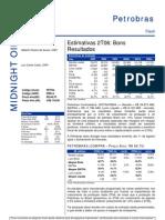 110806 - Flash News Petróleo e Gás - Petrobras - Estimativas 2T06 - Bons Result a Dos