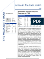 150806 - Flash News Elétricas - Transmissão Paulista - Result a Dos Melhores Do Que o Esperado No 2T06