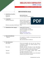 Msds Bentonite Dak (Cua Dmc)