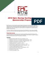 2012 Epic Racing Sponsorship Proposal