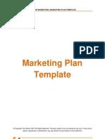 Marketing Plan Template - 3[1]