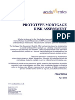 Desktop Mortgage Risk Assessment Model M-RAM Prospectus
