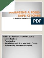 Managing a Food-safe Kitchen
