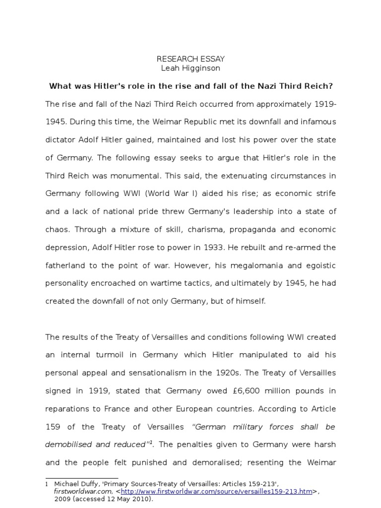 rise and fall of adolf hitler essay  rise and fall of adolf hitler essay