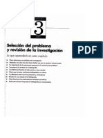 Selección del problema y revisión de la investigación