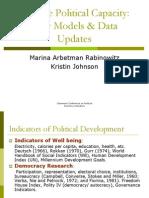 Arbetman-Rabinowitz Johnson 2007 Relative Political Capacity
