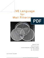 SIEVE Language for Mail Filtering