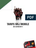 NRJ Mobile Tarifs