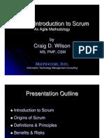 Introduction SCRUM