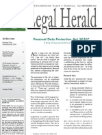 Personal Data Protection Act 2010