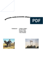 Economie Rurala-economie Urbana