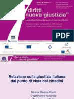 Sette diritti per una nuova giustizia - relazione introduttiva al convegno di M. Modica Alberti