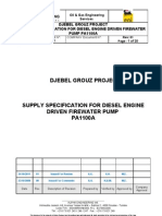 55117-EnI-SF-SA-PA-301-01-Supply Specification for Diesel Engine Driven Firewater Pump PA 1100 A