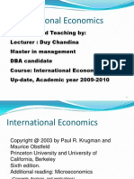 International Economics for Year 3