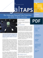 The Malaysian Personal Data Protection Act 2010 a Brief Overview