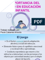 LA IMPORTANCIA DEL JUEGO EN EDUCACIÓN INFANTIL