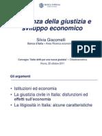 Effcienza della Giustizia e sviluppo economico - Silvia Giacomelli, Banca d'Italia