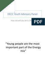 DECC Youth Advisory Panel Presentation