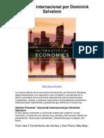 Economía internacional por Dominick Salvatore - Averigüe por qué me encanta!