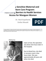 Addressing Cultural Barriers to Health Service Access for Mangyan Indigenous Women in the Philippines