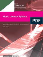 Music Theory-syllabus 2011