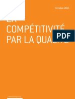 La compétitivité par la qualité