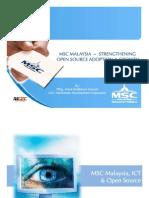 MSC MALAYSIA ~ STRENGTHENING OPEN SOURCE ADOPTION & GROWTH -  Datuk Badlisham Ghazali- MDEC