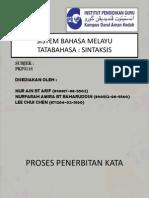 Sistem Bahasa-penerbitan Kata