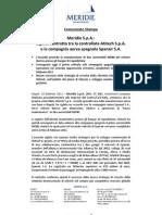 Meridie Investimenti S.P.A. di Gianni Lettieri sigla l'accordo con Spanair