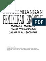 an Pemikiran Ekonomi (Mahzab-Mahzab Dalam Ilmu Ekonomi)