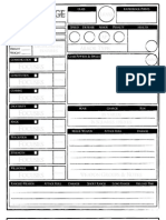 Dragon Age - Player Aid Two-Page Character Sheet