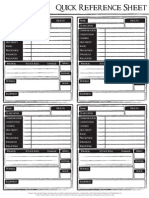 Dragon Age Quick Reference Sheet