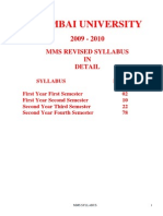 Mms Syllabus in Details