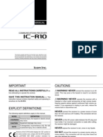 ICOM IC-R10 Instruction Manual